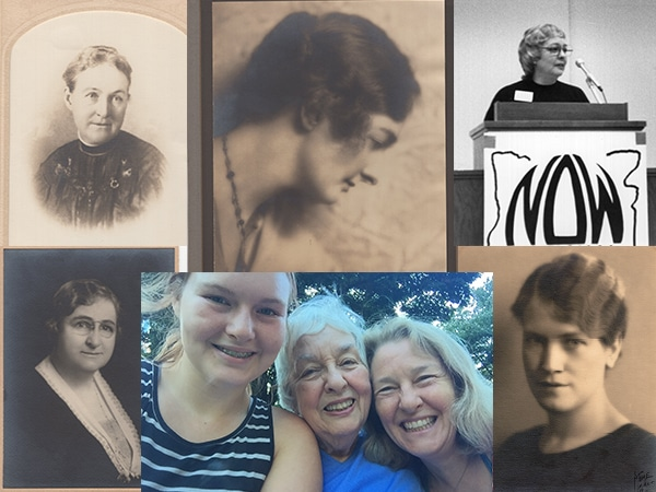 6 photos of Maggie and her female ancestors